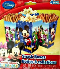 Disney Mickey Mouse Party Supplies/Favors 4Treat/Snack Boxes 3 Designs per Box
