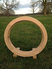 Handcrafted Solid European Oak Round Window 600mm in Diameter Hardwood Timber