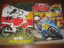 MOTOSPRINT 1982/26 TEST GUZZI V 65 ITALJET 350 UNCINI COVER PUBBLICITA' APRILIA