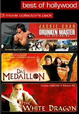 (3 DVDs) - DRUNKEN MASTER # MEDAILLON # THE WHITE DRAGON - NEU*OVP