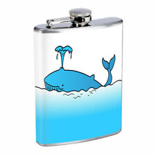 Whale Em1 Flask 8oz Stainless Steel Hip Drinking Whiskey