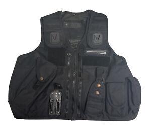 Genuine Ex Police Arktis Utility Vest Black Tactical Vest Security Dog Handler