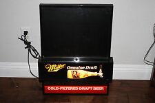 Miller beer sign lighted bar Genuine Draft cold filtered WITH CHALKBOARD