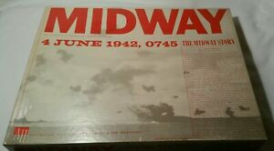 Avalon Hill Midway 1964 Edition Complete Punched Excellent