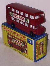 Matchbox Regular wheel Serie No. 5 D London Bus in rare F Box MIB 10/10