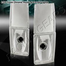 88-93 C/K 1500/2500/3500 Chrome Housing Clear Lens Turn Signal Corner Lights