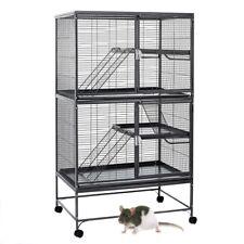 Rat cage black chewproof large 92cm x 64cm x 160cm 14mm bar spacing Aventura