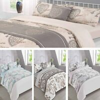 Dreamscene Complete Duvet Cover Bed in a Bag Bedding Set - Grey Natural, 6 Piece