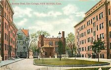 1907-1915 Vintage Postcard; Berkley Oval, Yale College, New Haven Ct, Posted