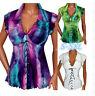 New Women V-Neck Lace T-Shirt Summer Casual Sleeveless Tops Chiffon Blouse AU
