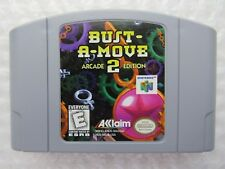 Bust-A-Move 2 Arcade Edition Nintendo 64 N64 Authentic Video Game Cart OEM GREAT