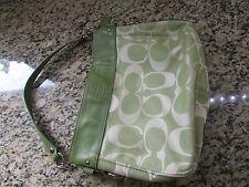 COACH ZOE SIGNATURE TOTE BAG PURSE HANDBAG  SHOULDER BAG IN GREEN 14708