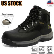 Men's Safety Shoes Steel Toe Work Boots Indestructible Waterproof Boots Shoes US