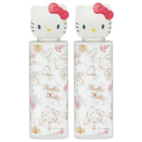(Set of 2) Sanrio Hello Kitty Pink Heart Lotion Shampoo travel Bottle Japan New
