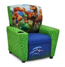 Youth Playroom Recliner Good Dinosaur Characters Sturdy Kids Chair w Cup Holder