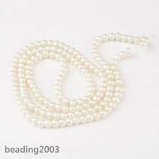 1Strand 6mm Ivory Glass Faux Pearl Round Loose Beads Craft about 140pcs/strand