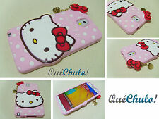 FUNDA CARCASA SILICONA PARA SAMSUNG GALAXY NOTE 3 N9000 HELLO KITTY ROSA_