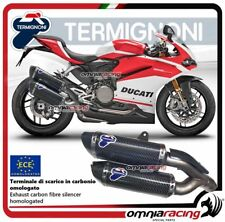 Termignoni FORCE 2 terminali scarico carbonio omologato Ducati PANIGALE 959 16>