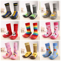 Infant Baby Cartoon Patterned Soft Rubber Bottom Anti-slip Floor Socks Shoes