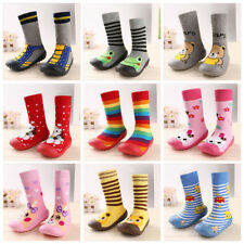 Infant Baby Cartoon Patterned Soft Rubber Bottom Anti-slip Floor Socks Boots