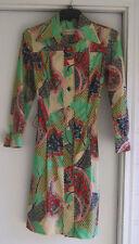 Vintage  Grace Taylor Multi-Color Button Front Dress Size 8