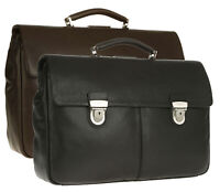 CARTELLA Spalding & Bros Porta PC pelle VERMONT Briefcase 45X30X12 cm uomo 24170