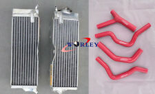 Aluminum Radiator & hose for Honda CR500 CR500R CR 500R 1985-1988 1986 1987 RED