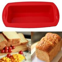 Rectangle Non-stick Loaf Silicone Bakeware Pan Toast Bread Cake Baking Mold WT