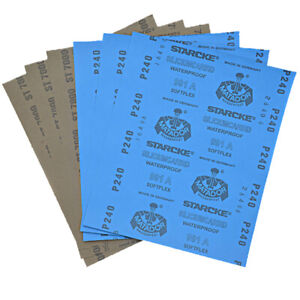 Wet Dry Sandpaper 120-10000 Grit Abrasive Sanding Paper Sheets Waterproof Mixed
