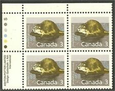 Canada 1157 Muskrat Upper Left plate block Ashton-Potter Slater Mnh *