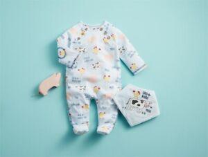Mud Pie E1 Farm Friends Baby Boy Cow Sleeper & Bib Set 11060170 Choose Size