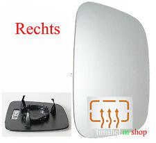 Spiegelglas Außenspiegel RECHTS asphärisch beheizbar für VW T5 + Caddy 3