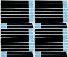 20x nastro di velcro fascette per cavi 50 CM x 50 mm Marrone Blu Velcro nastri Cavo nastro di velcro asola
