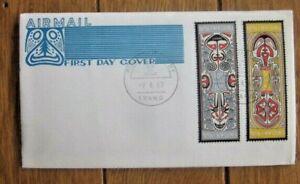 PAPUA NEW GUINEA 1969 FOLKLORE ELEMA ART TITO IKO LUVUAPO MIRO FDC