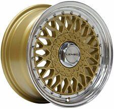 "17"" Gold BSX Alloy Wheels Fits Bmw E30 Fiat Punto Evo Grande Punto 4x100"