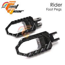 CNC Front Rider Black Wide Foot Pegs Fit Triumph Street Triple 675 R 11-13