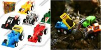 Construction Vehicles And Race Cars Toy Pack Of 12 Pull Back Small 2 Inch Trucks