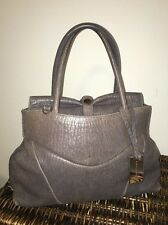 🎀Coccinelle Distressed Gray Taupe Slouchy Double Handle Tote Doctors Bag🎀