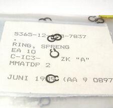 100x Sprengring / Sicherungs-Ring, DIN 471, 4 mm, 0.4 mm dünn, MIL Spec