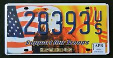 """New Mexico """" SUPPORT OUR TROOPS EAGLE FLAG """" NM Military Specialty License Plate"""