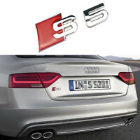 3D S Line Aluminum Chrome Alloy S5 Car Tail Sticker Emblem Badge All Model A5 S5