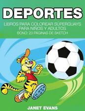 Deportes: Libros Para Colorear Superguays Para Ninos y Adultos (Bono: 20 Paginas