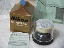 Mint Condition Nikon EL-Nikkor 80mm f5.6 Enlarging Lens in original packaging