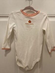 Vintage 2013 Janie Jack Little Pumpkin One Piece Bodysuit Top 12-18 months baby