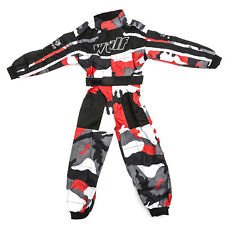 Wulfsport Enfants Tenue de Course Motocross MX Kart Quad Pit Dirt Bike Karting Rouge Juni/s 5-6 Years