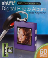 Shift3 Digital Picture Frame Keychain Photo Album Purple