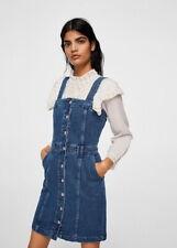 NEW MANGO (Zara Group) Dark Denim Jean Dress size EUR L, USA 8