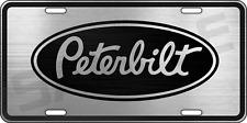 Peterbilt Semi Truck Aluminum Big Rig License Plate Thick Metal Tag - YOU CHOOSE