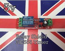 DC 5V Delay Relay Shield NE555 Timer Switch Module 0 - 10 Second Adjustable UK