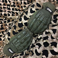New Enola Gaye Full Finger Hard Paintball Airsoft Gloves - Olive Green - Medium